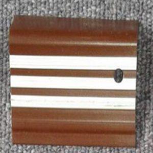 karet pengaman tangga coklat list putih